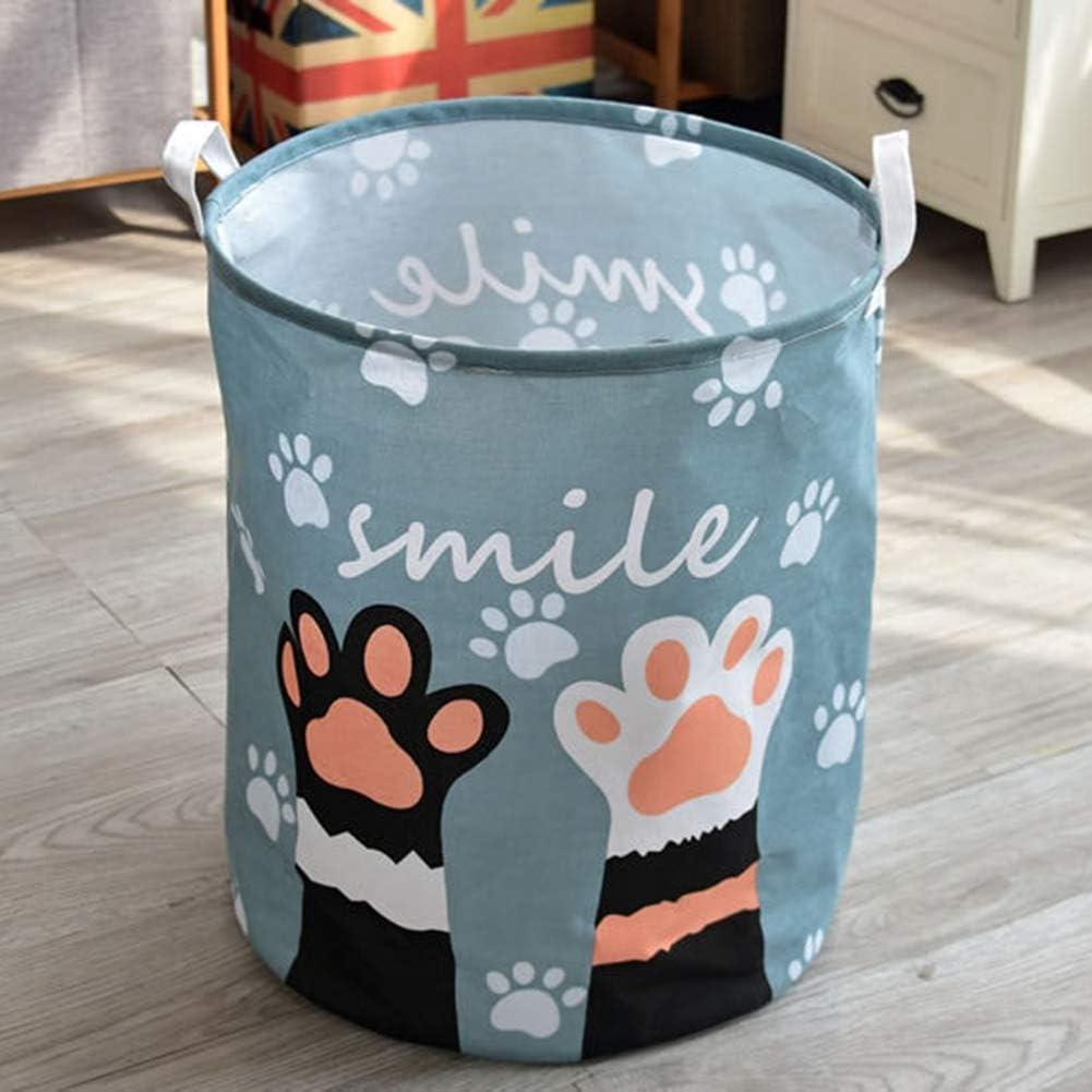 Fairylove 40 50cm Panier /à Linge Pliable Corbeilles /à Linge Panier de Rangement Boites de Stockage Chat Mod/èle Impression