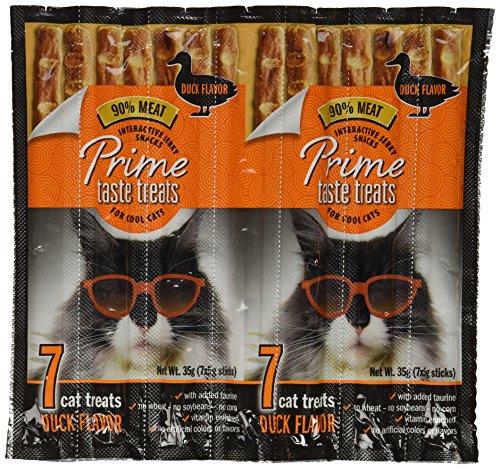 Real Meat Jerky Treats Cat Treats - Prime Taste Treats Duck Jerky Treat For Cats, 35G