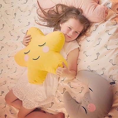 Almohada calmante del Lindo sueño nórdico, Regalo de cumpleaños para niña La decoración de la muñeca Linda niñas y niños,Pentagram53cm: Deportes y aire libre