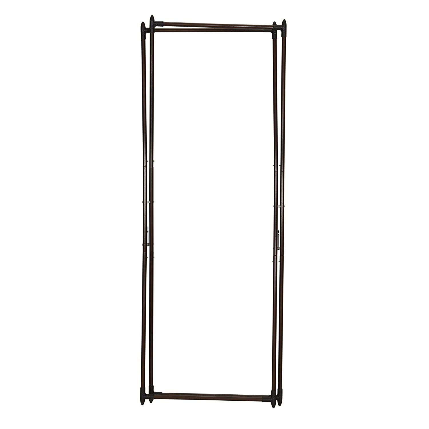 Household Essentials 5277 Portable Clothing Valet Rack Hang Wet or Dry Laundry Antique Bronze