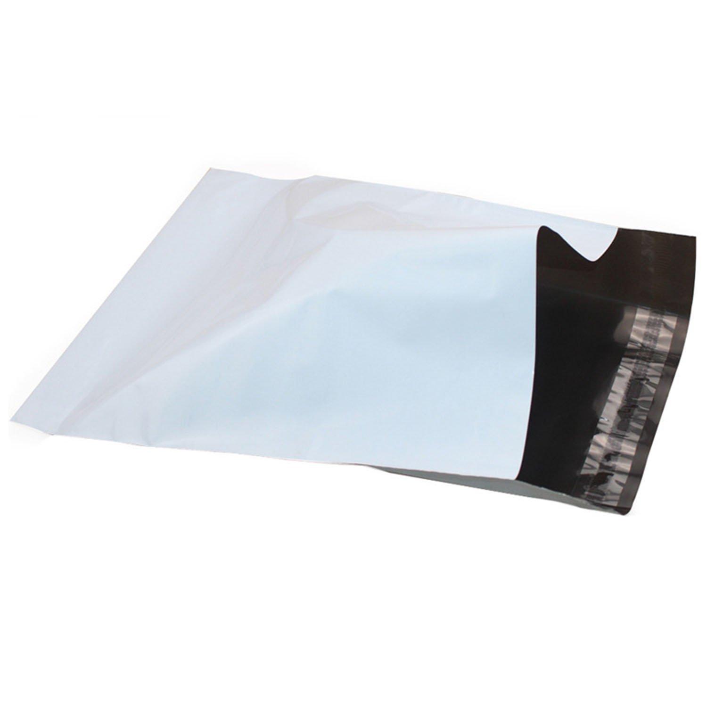 50 Bolsas, sobres para envío en 43 x 57 cm, de plástico con cierre de solapa adhesiva, color blanco opaco y muy resistentes. Envíos correo postal, y ...