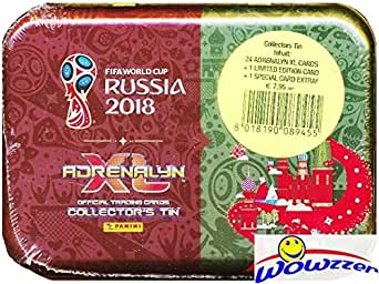 2018 Panini Adrenalyn XL FIFA World Cup Russia Factory Sealed Collectors TIN with 24 Cards & LIMITED EDITION Card! Look for Superstars including Ronaldo, Lionel Messi, Neymar Jr & Many More! WOWZZER!