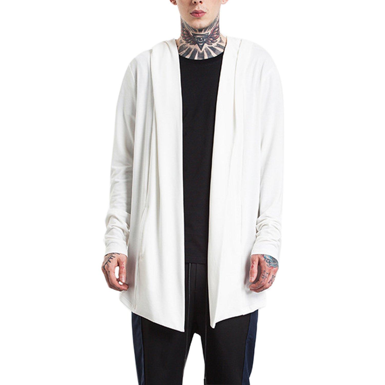 semen Men Women Longline Loose Cardigan Long Sleeve Knitted Hoodie Sweater Warm Oversized Hooded Coat Jumper T-Shirt XGSF1256-UK
