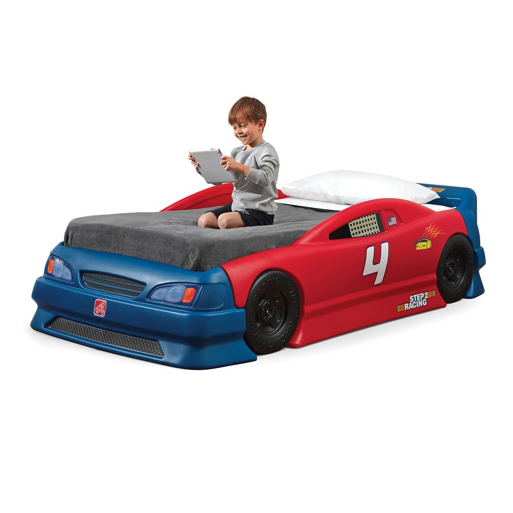 Uncategorized Bed Car amazon com step2 stock car convertible bed toys games
