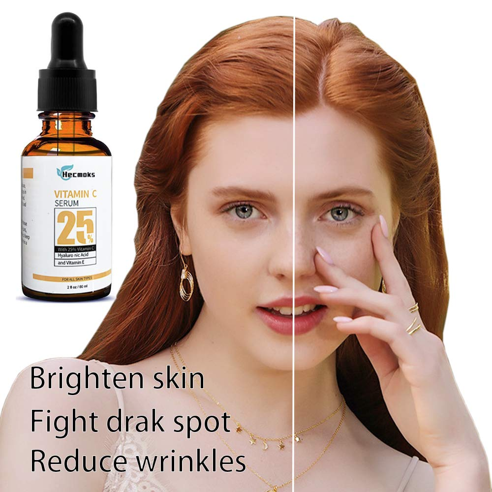 2Pack Vitamin C Serum for Face  Organic Anti Wrinkle Reducer Formula for Face  Topical Facial Serum