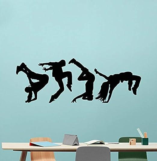 Hip Hop dancing Wall Decor Vinyl Decal Sticker Removable Kids Art DIY Mural