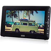 "August DTV905 – 9"" Portable Freeview TV – Small Screen LCD Television with Multimedia Player – Digital TV for Bedroom, Kitchen, Caravan… – Battery (Internal) or Mains Powered"