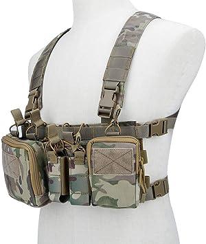 Lejie Chaleco de Pecho táctico Rig Assault 500D Molle Chaleco ...