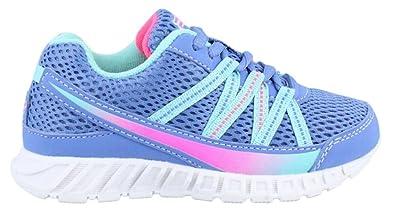 f9714029b4503 Fila Girls' Flicker Skate Shoe, Wedgewood/Aruba Blue/Knockout Pink ...