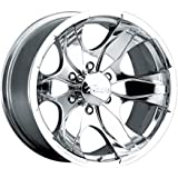Pacer Warrior 16x8 Polished Wheel / Rim 6x5.5 with a 10mm Offset and a 108.00 Hub Bore. Partnumber 187P-6883