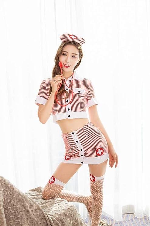 HXPH Disfraz de Enfermera para Mujer Uniformes de Enfermera ...