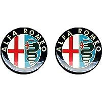 Alfa Romeo 21845 officiële 3D Sticker oud logo 12 mm, 2 stuks