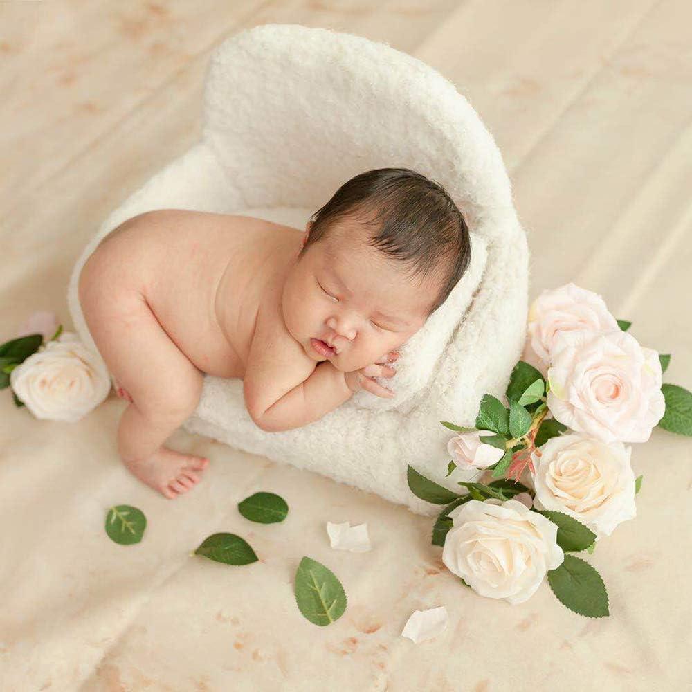 Huntfgold Neugeborene Baby Fotografie Requisiten Schmetterling Kissen Korb F/üller Baby Photo Prop