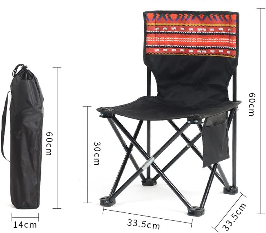 RENJUN Outdoor Folding Chair Portable Leisure Chair Folding Mazar Outdoor Chair folding chair (Color : 11#) 7#