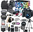 Canon EOS Rebel T5i DSLR Camera Deluxe Video Creator Kit with Canon EF-S 18-55mm f/3.5-5.6 IS STM Lens + Wide Angle Lens + 2x Telephoto Lens + Flash + SanDisk 32GB SD Memory Card + Accessory Bundle