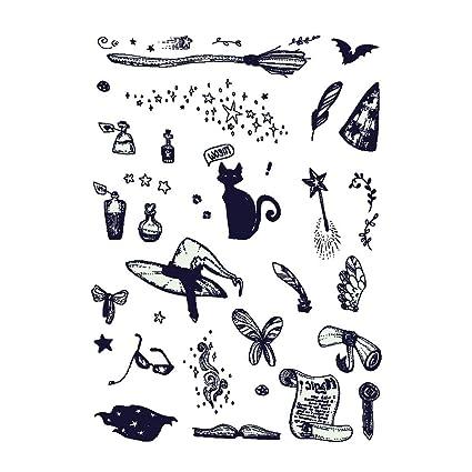 Pegatina de tatuaje de Halloween, diseño de dibujos animados, impermeable, temporal, luminosa