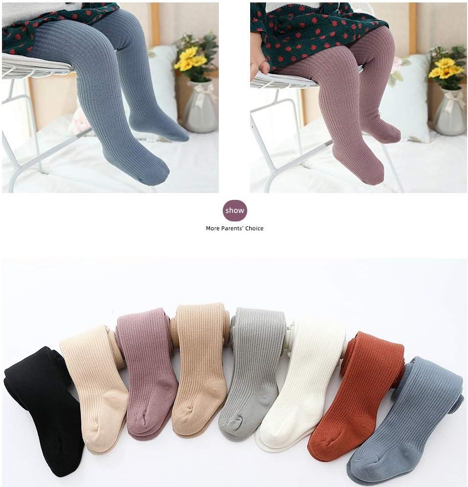 Las ni/ñas de invierno Panti suave de punto beb/é de los pantalones apretados de las polainas color caliente calcetines largos del ni/ño infantil calcetines adecuados para 0-10 a/ños edad ni/ñas,Gris,XXL