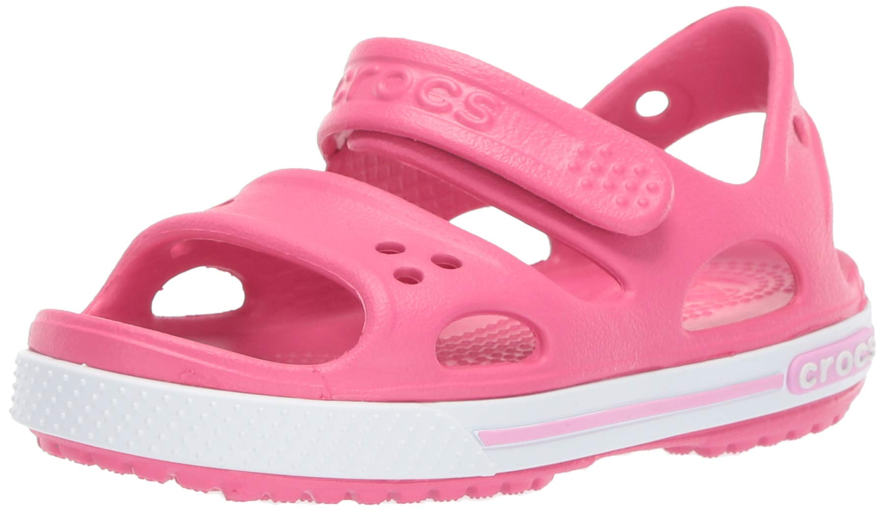 Crocs Kid's Boys and Girls Crocband II Sandal | Pre School, Paradise Pink/Carnation, 9 M US Toddler by Crocs