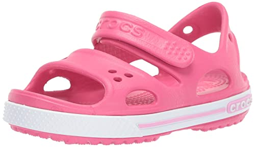 3ef780fc9358 crocs Boy s Crocband II PS Sea Blue and White Rubber Sandals and ...