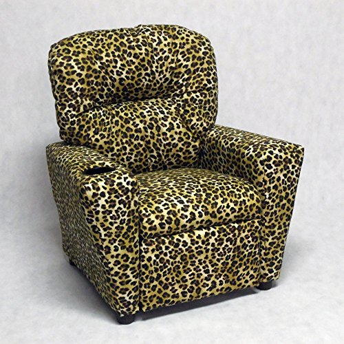 Brazil Furniture Cupholder Child Recliner - Amazon Sand Leopard by Brazil Furniture
