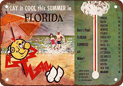 1950s Florida Summers are Milder - Vintage Look Reproduction