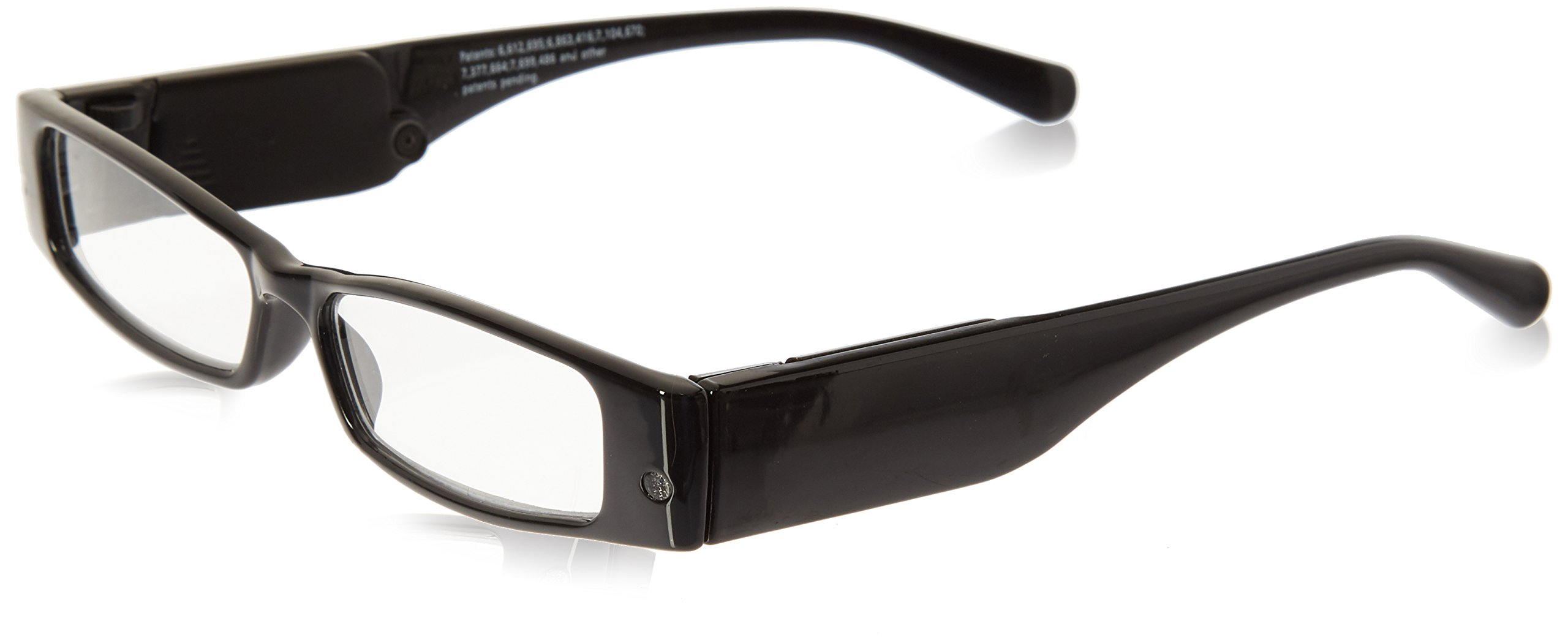 LIGHTSPECS LP Ultra Bright LED Lighted Lightweight Rectangular Reading Glasses by Panther Vision
