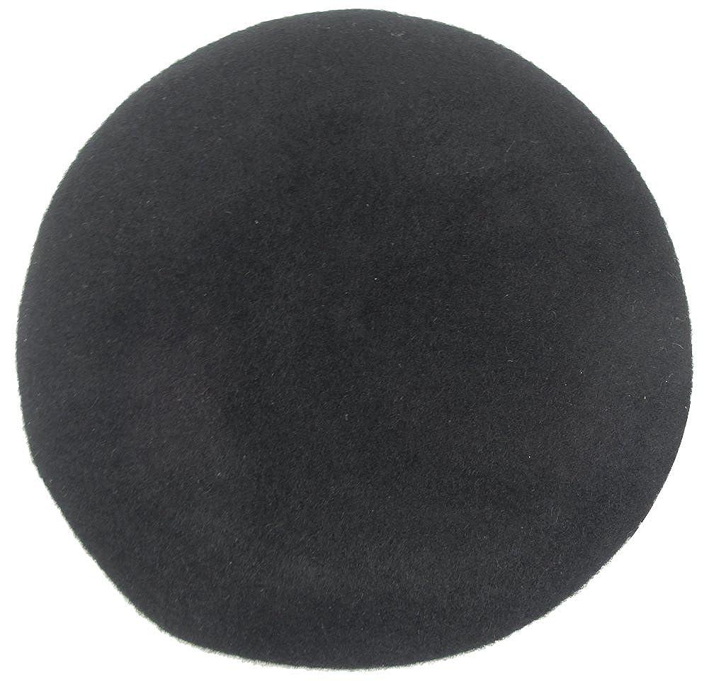 MINAKOLIFE Homme Femme chapeau militaire cuir b/éret garniture en cuir avec ruban
