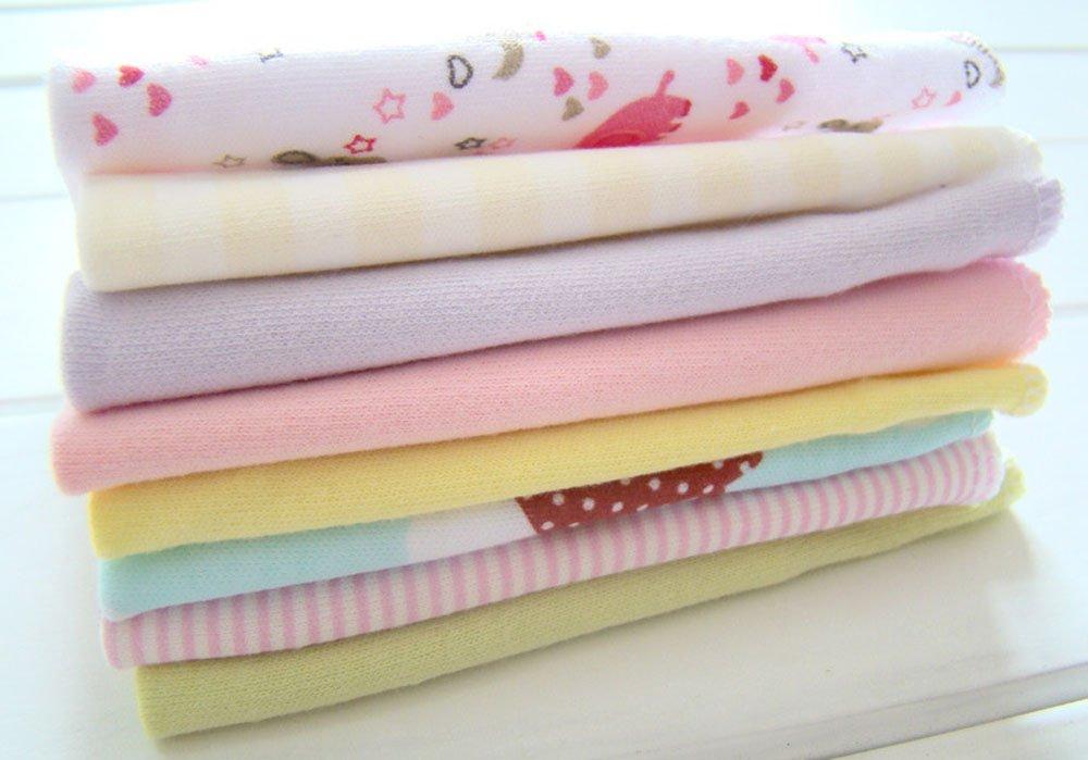 8 Pack Newborn Baby Washcloths Soft Cotton Nursing Towels