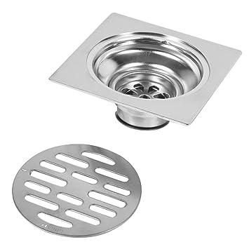 Dick Edelstahl Quadrat Anti-Geruch Badezimmer Boden Abfluss Abdeckung Abfall Tor Duschablauf Style : #2