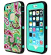 6 Plus Case, iPhone 6 Plus Case, SGM (TM) Hybrid Dual Layer Protection High Impact Armor Defender Case For iPhone 6 / 6S Plus (Compatible With All iPhone 6 / 6S Plus Models) (Mint (Colorful))