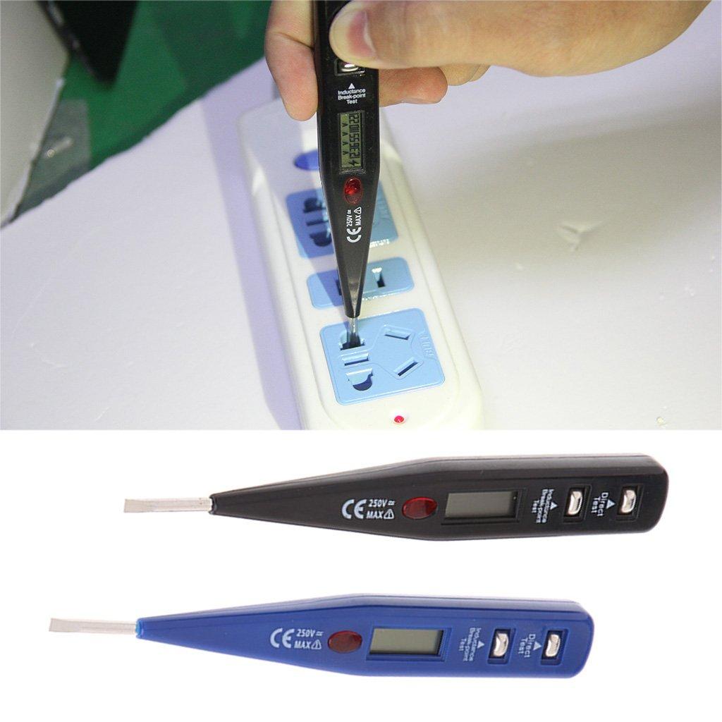 A0127 AC DC 12-250 V Medidor de Voltaje Digital Tester el/éctrico Detector de presi/ón de bol/ígrafo Sensor