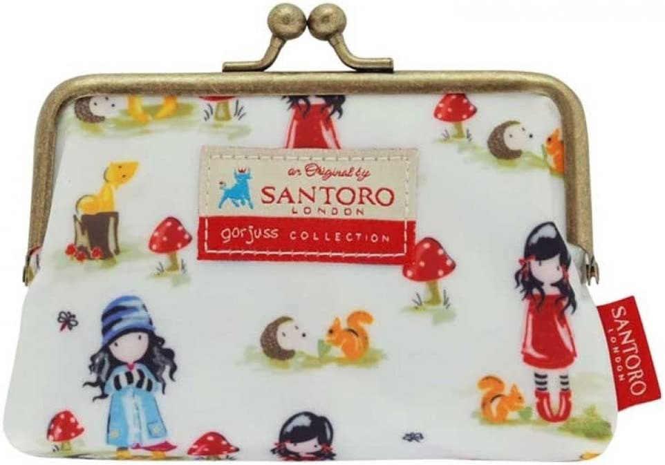 Santoro Gorjuss 5Fermoir Sac /à Main Pastel Motif Imprimer Toadstools