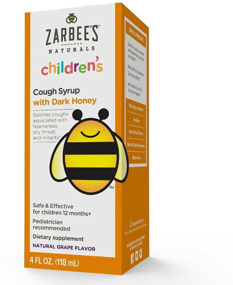 ZarBee's Children's Cough Syrup Natural Grape Flavor 4 oz (Pack of 12)