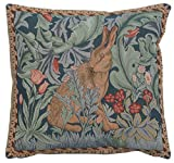 Rabbit As William Morris 2 French Tapestry Cushion