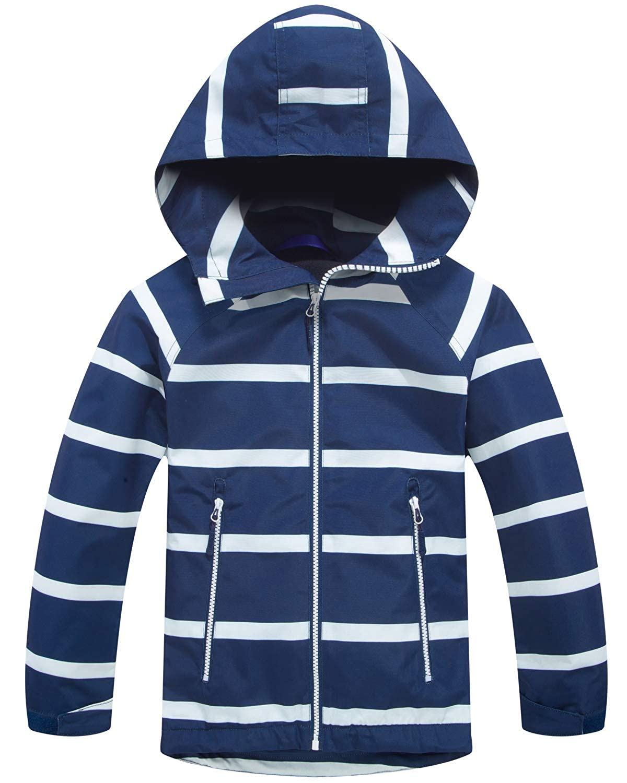 0ef5be0d00d9 Amazon.com  Welity Kids Warm Fleece Lined Full Zip Waterproof Hoodie ...