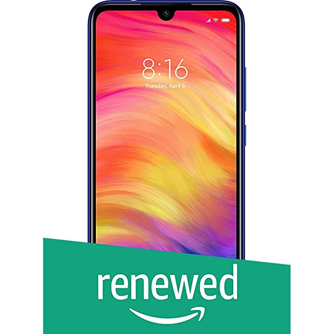 Renewed  Redmi Note 7 Pro  Neptune Blue, 128 GB, 6 GB RAM  Smartphones