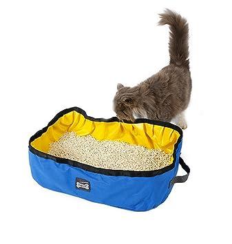 JINZE - Arenero portátil plegable para gatos al aire libre Tejido impermeable, fácil de limpiar