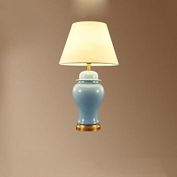 Amazon.com: CJH Lámpara de mesa de cerámica de cobre, estilo ...