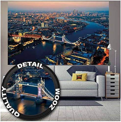 Photo Wall Mural-LONDON- -NON WOVEN-City-River Thames Wallpaper Panorama 611V