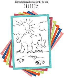 Amazon.com : Color \'n Kids Little Buddies Coloring Greeting Cards ...