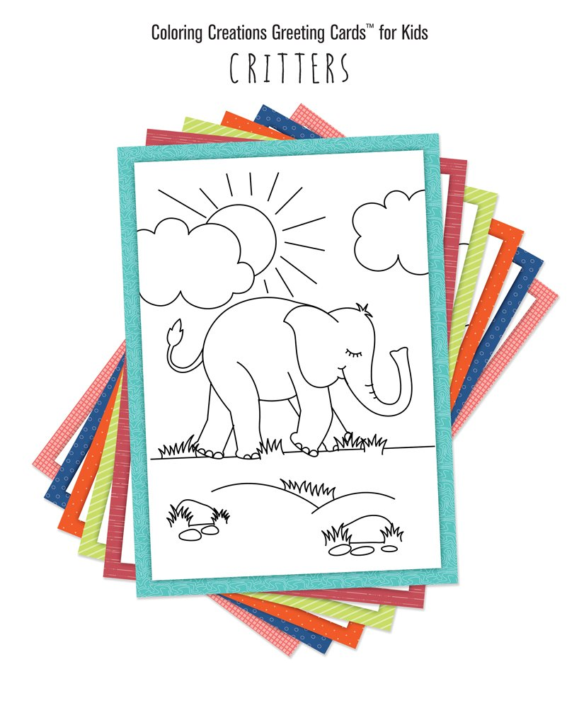 Coloring Creations Greeting Cards For Kids Critters With