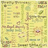 KAREN FOSTER Design Scrapbooking Paper, 25 Sheets, Pretty Princess Collage, 12 x 12