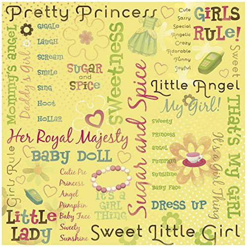 (KAREN FOSTER Design Scrapbooking Paper, 25 Sheets, Pretty Princess Collage, 12 x 12)
