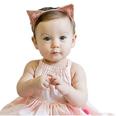 3pcs Baby Kids Cute Cat Ear Headband Bunny Elastic Cloth Hair Accessory
