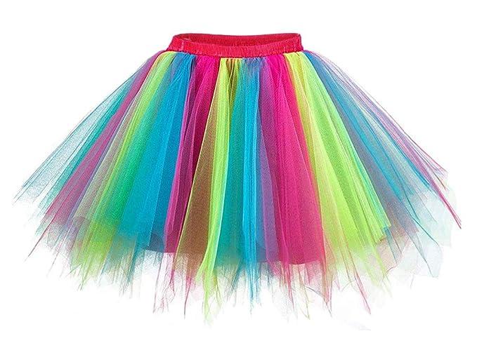 Reyoust Mujer Adultos Mini Falda de Ballet Skirt Princesas Tutú de ...