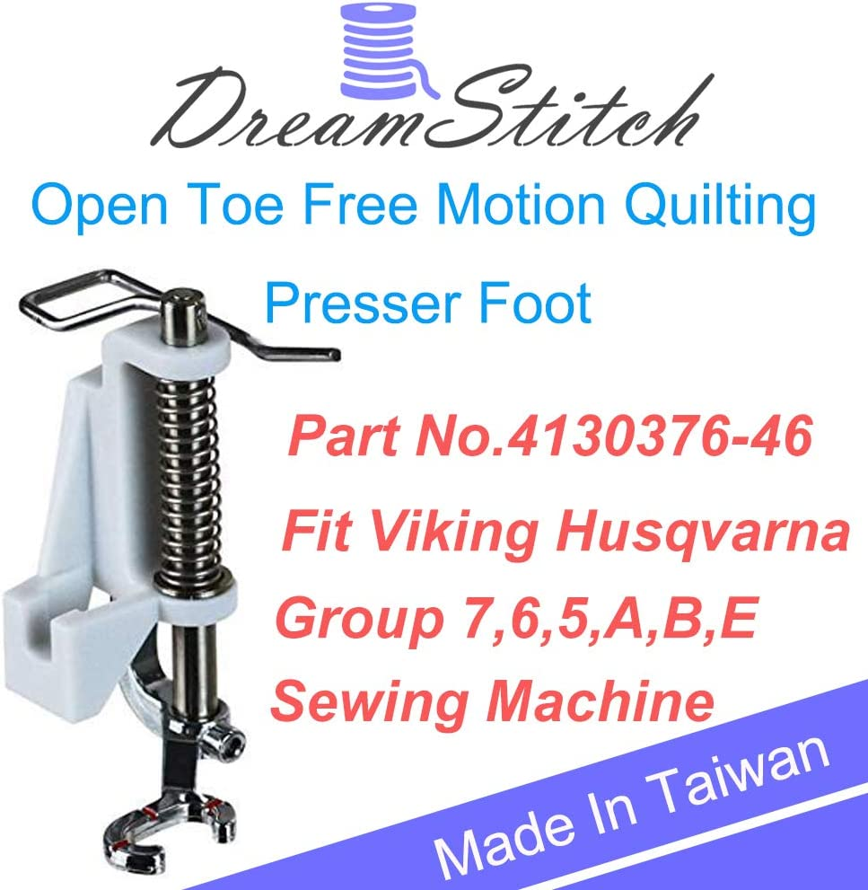 PannySewCraft Free Motion Quilting Darning Spring Presser Foot for Viking Husqvarna Group 7,6,5,A,B,E 4130376-46