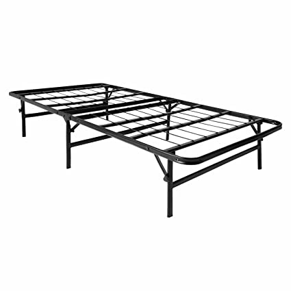 Perfect LUCID Foldable Metal Platform Bed Frame And Mattress Foundation  Strong And  Sturdy Support   Quiet