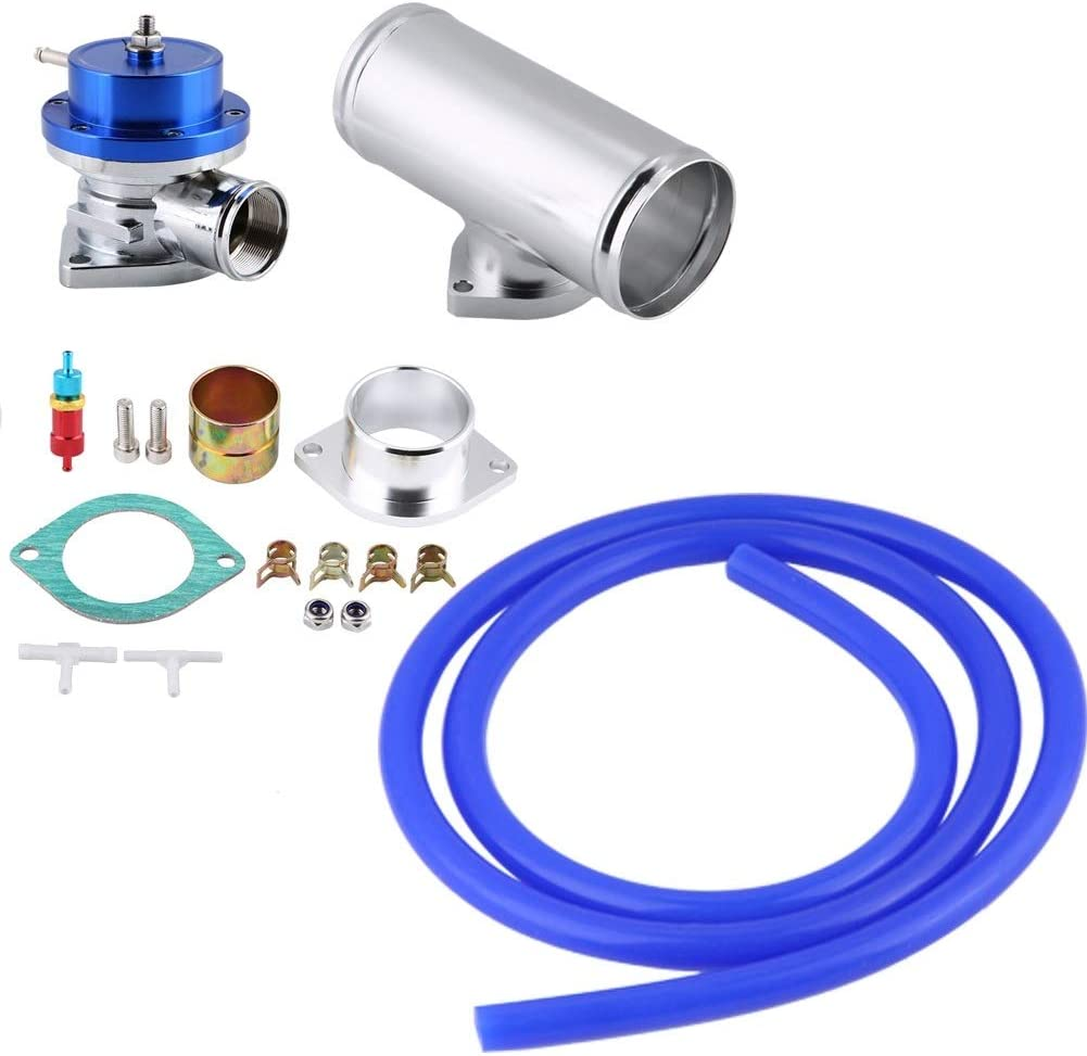 Blow Off Valve BOV Type-S Turbo Blow Off Valve BOV Kit with 2.5 Inch Flange Pipe Universal