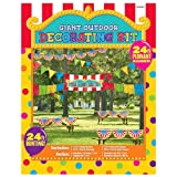 Amscan Carnival Fair Fun Outdoor Giant Decorating Kit Game Activity Party Supplies (12 Piece)