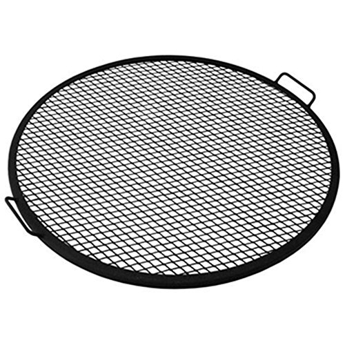 Sunnydaze X-Marks Fire Pit Cooking Grill, 37.5 Inch Diameter